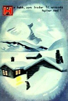 Julekort med vers Milly Heegaard Utg Kortforlaget 1940-tallet