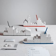 Seletti The Warehouse Porcelain Desk Organizer | Pure Home