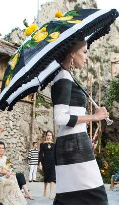 Dolce & Gabbana Alta Moda Fall/Winter 2015 couture show in Capri Capri Italia, Parasols, Stefano Gabbana, Dolce Gabbana, Fashion Beauty, Womens Fashion, Fashion 2014, Runway Fashion, Vogue Australia