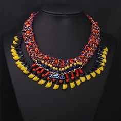 Statement Necklace Layer Necklace Bib Collar by Attractivenecklace, $18.00