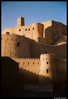 Arg-e Bam one month before earthquake destruction in 2003 (Iran)