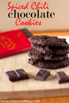 Spiced Chili Chocolate Cookies with a secret ingredient (vegan