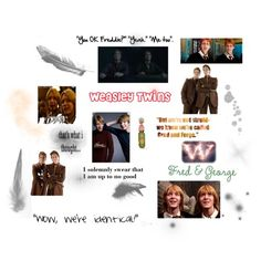 fred and george weasley funny quotes | Harry Potter Funny Quotes Fred And George. Gred and forge... Cracks me up
