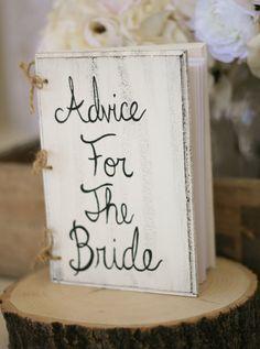 Bridal Shower Guest Book Shabby Chic Wedding Decor by braggingbags, $34.99 @Shonae Jones Jones Jones Jones Livingston