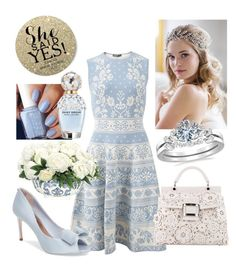 """She Said ""Yes"""" by gretchen-almind on Polyvore featuring Brides & Hairpins, Alexander McQueen, Roger Vivier, Ted Baker, NDI, Marc Jacobs, contest and love"