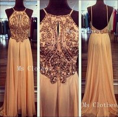 Custom Made A line Sequin Backless Long Prom Dresses, Prom Dress 2014, Evening Dresses, Dresses For Prom, Formal Dresses on Etsy, $224.99