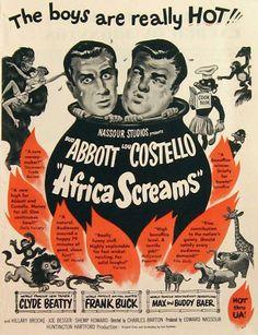 Abbott & Costello Africa Screams 1949 Movie Ad