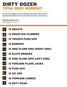 Dirty Dozen Total Body #Workout #bodyweightworkouts