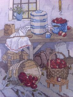 Counted Cross Stitch Country Kitchen