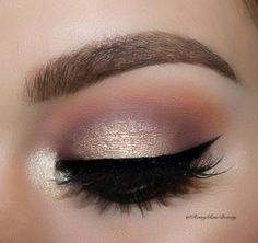 Beautiful glimmer look. Perfect for a wedding