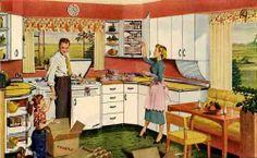 retro kitchen scene... I can see it already