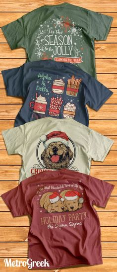 Christmas T-shirts | Sorority T-shirts | Greek T-shirt Ideas | Greek Life Shirts | Fraternity shirt Ideas | Holiday Season Shirts | Metrogreek | Santa T-shirts | Happy Holiday Shirts |