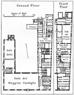 Venice Doges Palace Map Architecture In 2018