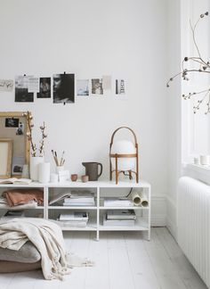 Dreamy amount of white in this room. Slowly adding white accents and pieces to out living room to brighten it up. Living room goals here!