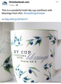 I Cup, Psalm 23, Shopping Sites, Blessed, Christian, Mugs, Tableware, Dinnerware, Tumblers