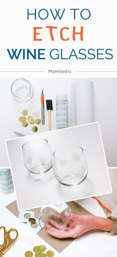 If you've always wanted to know how to etch glass- this is a fantastic tutorial! Today we etched cute, stemless wine glasses. This would be a perfect diy gift for a girlfriend!