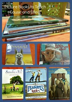 Using Picture Books to Teach Cause and Effect. A great list of suggested books for teaching cause and effect.