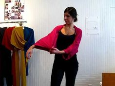 How to Wear a TML Kimono Shrug - it's just a scarf. brilliant!
