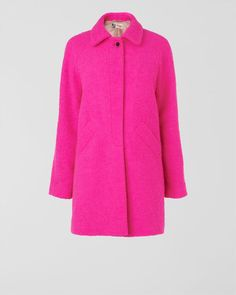 NEON BOUCLE COAT in Bright Pink by Jaeger - one for Winter types!