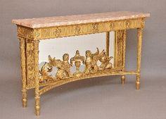 Antique Gilt wood console table