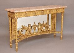 Antique Gilt wood consul table