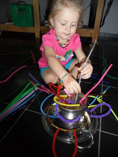 Pipe cleaner and strainer, who would have thought this would be fun and educational