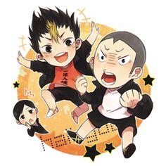 Haikyuu! ~~ Cuties! ☀ | ayame [pixiv] :: Nishinoya and Tanaka