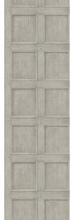 Aged Wood Panel Wallpaper - Grey - eclectic - wallpaper - by Kathy Kuo Home