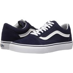 56c3251076 Vans Old Skool (Eclipse True White) Skate Shoes ( 48) ❤ liked