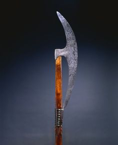 Bardiche (Pole Axe) Bardiche (Pole Axe), 1500s Germany or Russia, 16th century steel, leather, brass; wood haft, Overall - l:178.50 cm (l:70 1/4 inches) Wt: 1.66 kg Blade - w:14.20 l:60.20 cm (w:5 9/16 l:23 11/16 inches). Gift of Mr. and Mrs. John L. Severance 1916.1563