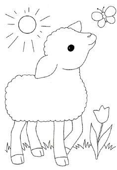Kleurplaat: schaap