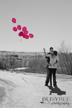 GENDER REVEAL - selective color photo @Sara Eriksson Jackson but with blue :)