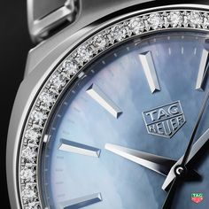 5be8d42f76f Buy the TAG Heuer Link Quartz Blue mother of pearl Dial & Fine-brushed and  polished steel Strap Lady Watch with 32 mm.