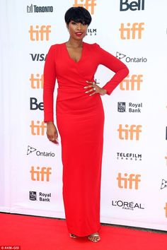 Look ravishing in red like Jennifer in Lanvin #DailyMail  Click 'Visit' to buy now