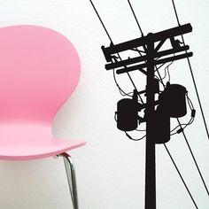 Wall Sticker: telephone pole 3