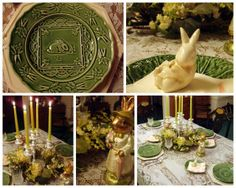 table settings for all events!!  you have to see this!