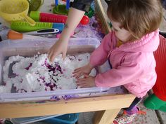 Messy Play - shaving cream and water beads