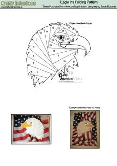 Eagle Head Iris Folding Pattern