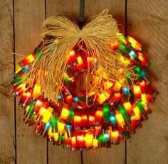 Shotgun shell Wreath with lights.