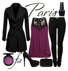 """""""Paris in the fall"""" by j-n-a ❤ liked on Polyvore featuring MM6 Maison Margiela, Nly Shoes, City Chic, OPI, MAC Cosmetics and Phase Eight"""