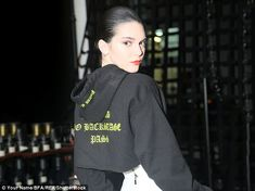 Showing her support: The hooded top was from the RTA, proving Kendall was a huge fan of the luxury brand
