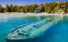 Озеро Гурон Канада В районе Великих озер произошло более 6 000 кораблекрушений…