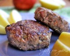 Apple and fennel gluten free sausage patties - easy and delicious