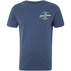 Buy Jack & Jones Originals Men's Liam T-Shirt - Ensign Blue from Zavvi, the home of pop culture. Take advantage of great prices on Blu-ray, merchandise, games, clothing and more! Jack Jones, Men's Clothing, Wardrobe Staples, The Originals, Casual, Mens Tops, T Shirt, Blue, Clothes