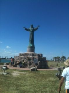South Padre Island, Texas  This huge, beautiful statue was built after we starting going there. To welcome and keep watch over the fisherman.