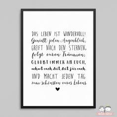 Wedding Art Print - La vie est belle Prints Digital Print Prints With - Winterhochzeit - Mariage Wedding Quotes, Wedding Art, Post Wedding, Wedding Gifts, Wedding Souvenir, Science Crafts, Seating Chart Wedding, Invitation Design, Digital Prints