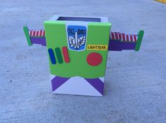 I made Buzz Lightyear this year for Oliver's Valentines box.