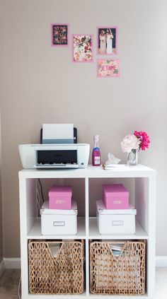 Bonnie Bakhtiari's Pink and Chic Home Office {Office Tour} | SAYEH PEZESHKI