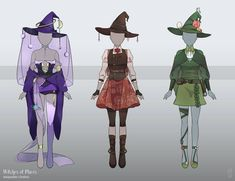 [Open][Set Price] Witches' Adoptable Clothes by adoptfondue Anime Outfits, Cute Outfits, Anime Girl Dress, Witch Outfit, Adventure Outfit, Art Reference Poses, Drawing Clothes, Character Outfits, Costume Design