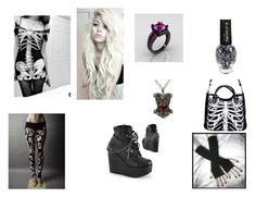 """emo beauty"" by nikkiannthefandomprincess ❤ liked on Polyvore featuring Demonia"